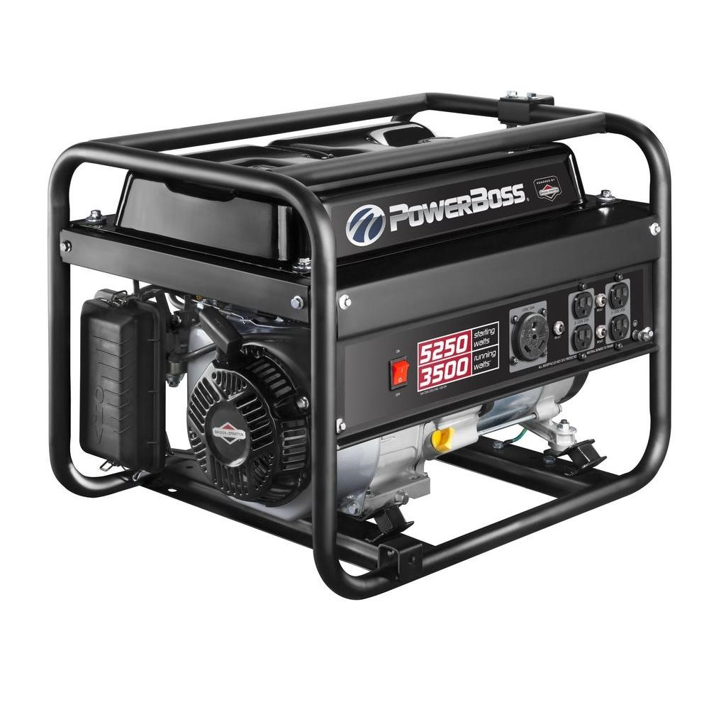 3500-Watt gasoline generator- Briggs and Stratton